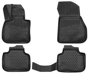 Gummimatten für BMW X1 F48 2015- Gummi Fußmatten 4 teilig 3D Schalen Qualität TP