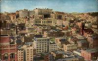 San Francisco USA California Kalifornien ~1910 Nob Hill Panorama City Postcard
