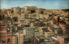 San Francisco USA California California ~ 1910 Nob Hill Panorama City postcard