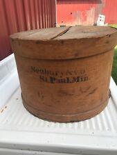 Antique Primative Round Wood Shipping/Shaker Box Seabury & Co