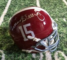 Gene Stallings Autographed Signed Alabama Schutt Mini helmet 92 National Champs