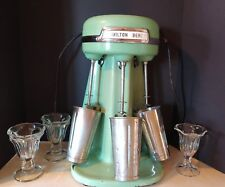 VINTAGE JADITE GREEN HAMILTON BEACH 40-DM TRIPLE 3 HEAD MILKSHAKE MIXER MAKER