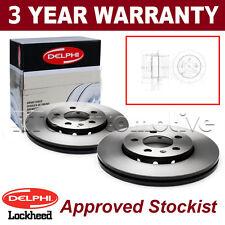 2x Rear Delphi Brake Discs For Hyundai Sonata Tucson Kia Magentis Mitsubishi