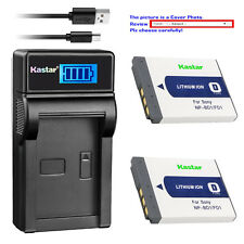 Kastar Battery LCD USB Charger for Sony NP-BD1 NP-FD1 & DSC-T77 Digital Camera