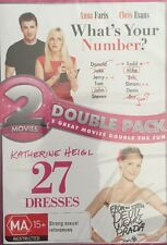 2 movie double pack what's your number and 27 dresses DVD R4 Brand New Sealed
