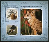 GUINEA 2017 ENDANGERED SPECIES SOUVENIR SHEET MINT NH