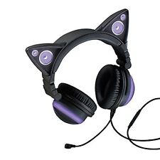 Axent Wear Cat Ear Headphones LED With High-performance Purple