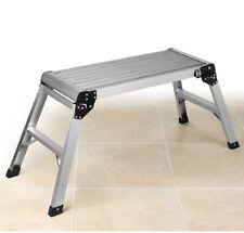 Beldray Aluminium DIY Step Up Ladder Work Bench Platform Anti Slip