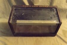 Antique Vintage Country Store Wood Glass Display Box Advertising Paris Arm Bands