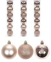 18x 6cm Festive Rose Gold Plastic Christmas Xmas Tree Bauble Decoration Glitter