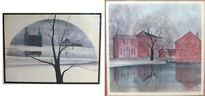 Signed P Buckley Moss Sugar Valley Farm & Industrial Revolution Buildings Prints
