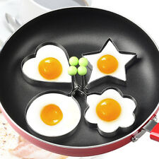 4 Shape/Set Fried Egg Mold Stainless Steel Pancake Eggs Ring Mould Cooking Tool