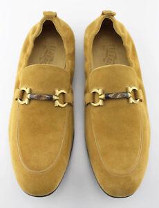 Men's SALVATORE FERRAGAMO 'Celso' Brown Suede Loafers Size US 10 - 2E