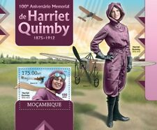 HARRIET QUIMBY Pioneer Aviator Bleriot XI Aircraft Stamp Sheet 2/2012 Mozambique