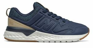 New Balance Kid's 515 Sport Little Kids Male Shoes Navy with Off White
