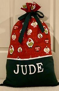 PERSONALISED NAME CHRISTMAS / SANTA SACK / PRESENT SACK -  The Grinch -