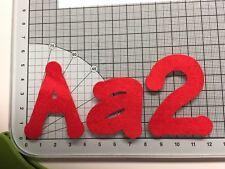 10 Die Cut Felt Capital Letters Handmade Hen Do, Birthday Large Lollipop Font