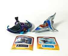 SKYLANDERS SUPERCHARGERS Lot of 2 Figures with Stickers Sea Shadow, Sky Slicer