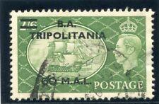 Bofic-TRIPOLITANIA 1951 kgvi 60l su 2s 6d giallo-verde usato in perfetta condizione. SG T32.