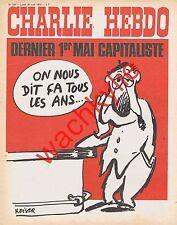 Charlie Hebdo n°128 30/04/1973 dernier 1er mai capitaliste Reiser Taizé par Cabu