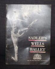 Vintage 1955 Opera Program The Sadler's Wells Ballet Royal Opera House