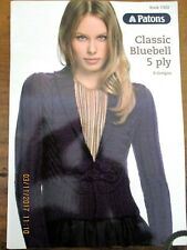 ~PATONS KNITTING BOOK No. 1302 - CLASSIC BLUEBELL 5ply - 8 DESIGNS - VGC~