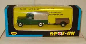 Tri-ang Spot-On No.308 Original Land-Rover and Trailer Excellent with new box