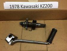 1978 Kawasaki KZ200 Kickstarter and kick starter assembly