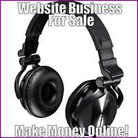 DJ HEADPHONES Website Earn $102.26 A SALE FREE Domain FREE Hosting FREE Traffic