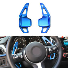 Blue Aluminum Steering Wheel Shift Paddle Extension For BMW 1 2 3 4 X1 i8 Series