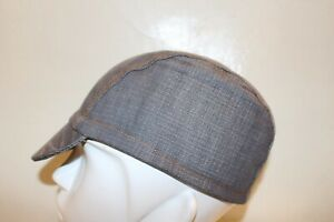 Cycling cap  VINTAGE DENIM color gray one size or M/L 100% COTTON   handmade new