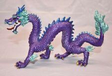 "Plastoy Horned Imperial Purple DRAGON 7"" Figure Figurine Chinese Oriental Safari"