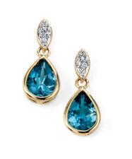 Orecchini di lusso topazio diamante