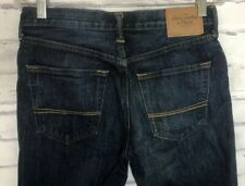 ABERCROMBIE & FITCH Classic Straight Jeans Men's Sz 30x32 Button Fly Dark blue