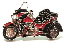Red Trike 3 Wheeled Bike Biker Motorcycle Motorbike Metal Rocker Enamel Badge