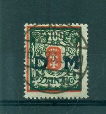 FREE CITY OF DANZIG - GERMANY 1922 100 M Official Stamp