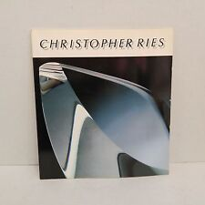 Christopher Ries SIGNED exhibition catalog glass sculpture art
