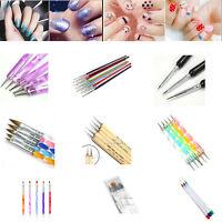 Various Drawing Polish Dotting Painting Brush Pen Nail Art Tips Decor choose