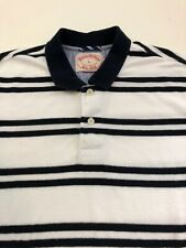 Vintage Brooks Brothers Terrycloth Polo Shirt Men's L Navy White Striped S/S