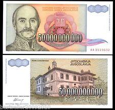 YUGOSLAVIA 50000000000 DINARA RARE ITEM  # 526