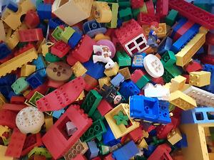 Lego® Duplo 1Kg bunt gemischte Sammlung Steine 2 Figuren 2 Tiere 1 Fahrzeug