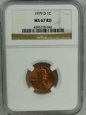 1979-D  LINCOLN CENT NGC MS67RD - RARE IN GRADE LEVEL