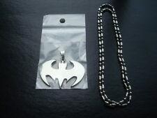 Brand New *BATMAN* Necklace- Stainless Steel Symbol Pendant & Chain DARK KNIGHT