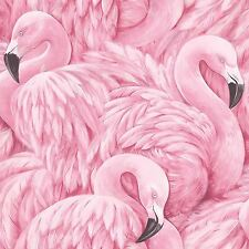 Rosa flamenco papel pintado por Rasch grande Báscula flamencos 277890