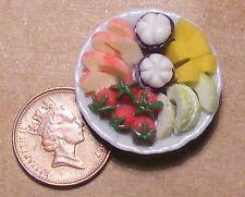 1:12 scala Ciotola di preparato miscugli di frutta DOLLS HOUSE miniatura Accessorio Alimentare F1