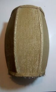 Small Rectangle Shaped Lamp Shade With Plastic Tassels Champagne Golden color.