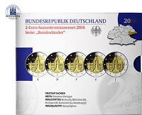 Deutschland 5 x 2 Euro 2016 PP Dresdner Zwinger Münzzeichen A bis J im Blister