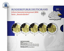 Deutschland 5 x 2 Euro 2016 PP Dresdner Zwinger Münzzeichen A - J im Blister
