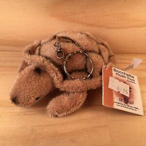 "BOCCHETTA ""Brown"" Gorgeous Little Plush Turtle Keyring Soft Toy Animal Friend"