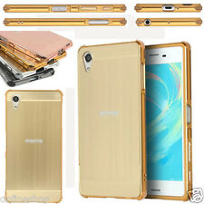 2016 Hybrid Brushed Metal Aluminum Hard Case Cover For Sony Xperia X Performance